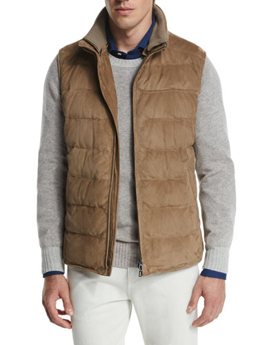 New Cortina Quilted Suede Vest