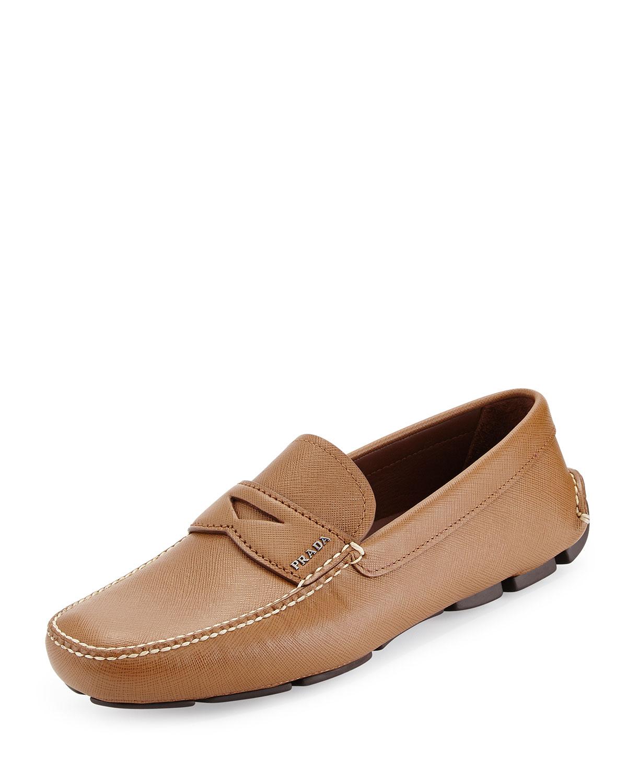 Saffiano Penny Driver Shoe