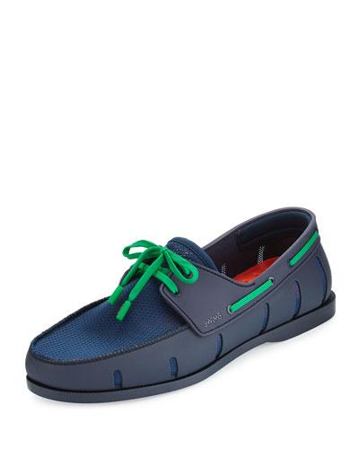 Water-Resistant Mesh Boat Shoe