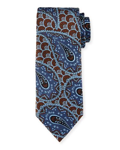 Retro Paisley Woven Silk Tie
