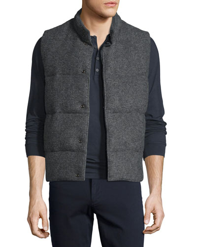 Quilted Wool-Blend Vest