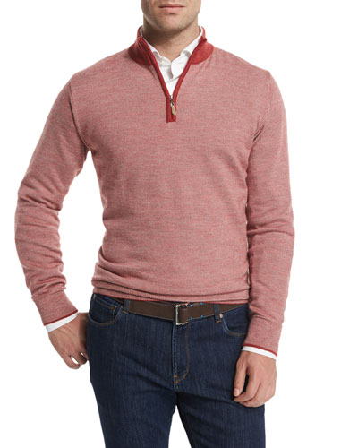 QUARTER-ZIP SWEATER WITH CON
