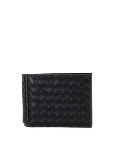 Basic Woven Bi-Fold Clip Wallet
