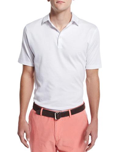 Perfect Short-Sleeve Pique Polo Shirt