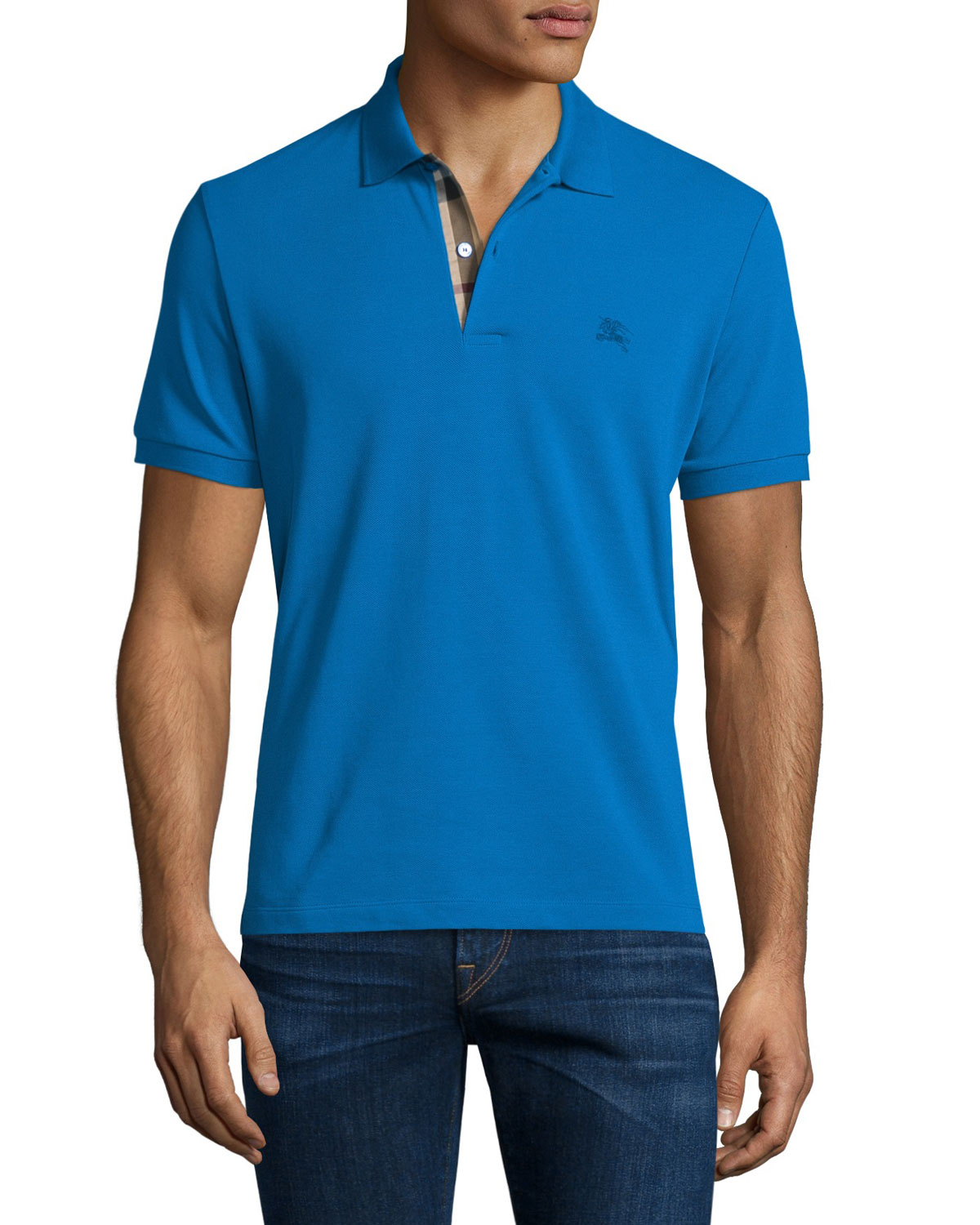 Core Short-Sleeve Pique Polo Shirt, Bright Opal