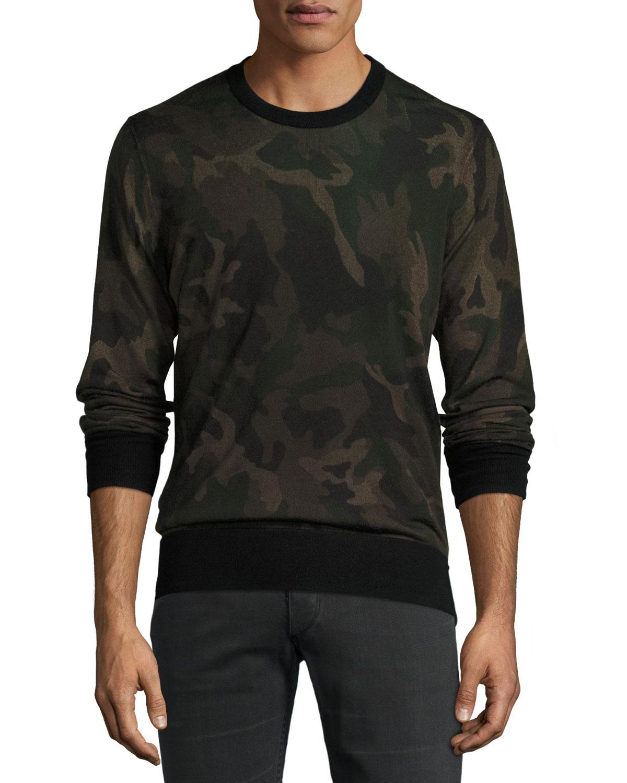 Camo Merino Wool Sweater