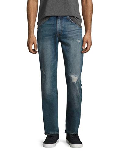 The Brixton Distressed Denim Jeans, Blue