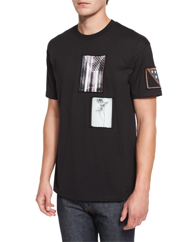 Colombian-Fit Photograph Patch T-Shirt, Black