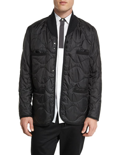 Quilted Snap-Front Jacket