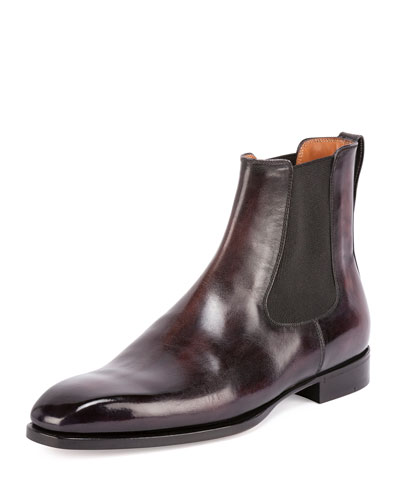Classic Leather Chelsea Boot, Burgundy