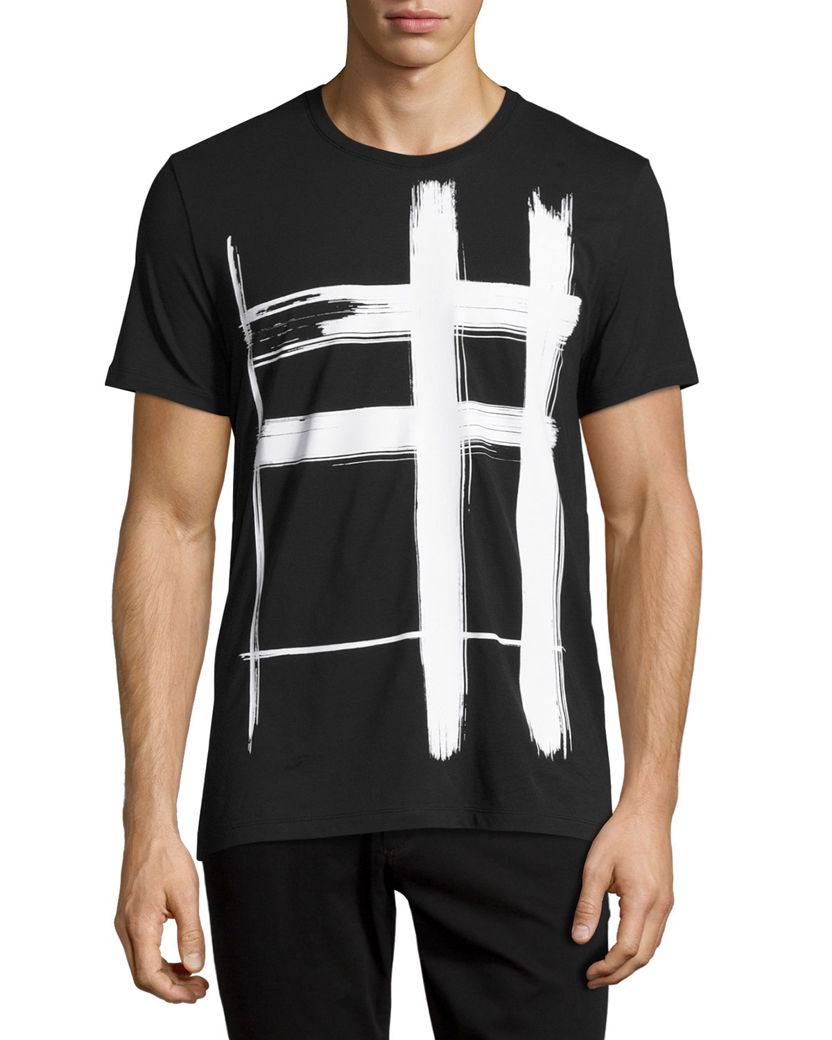 Lanesbury Brushstroke Check Short-Sleeve T-Shirt