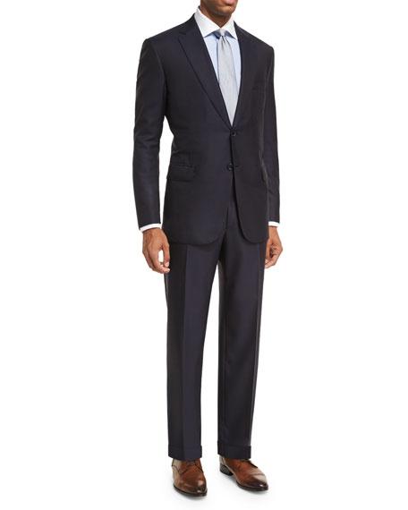 Brioni Essential Virgin Wool Two-Piece Suit, Navy
