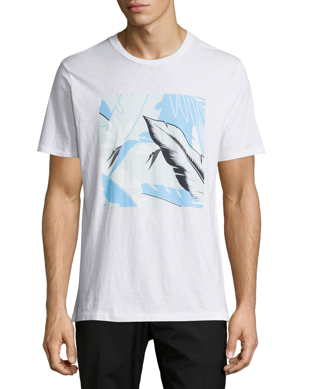 Hawaiian Tropical-Print Graphic T-Shirt