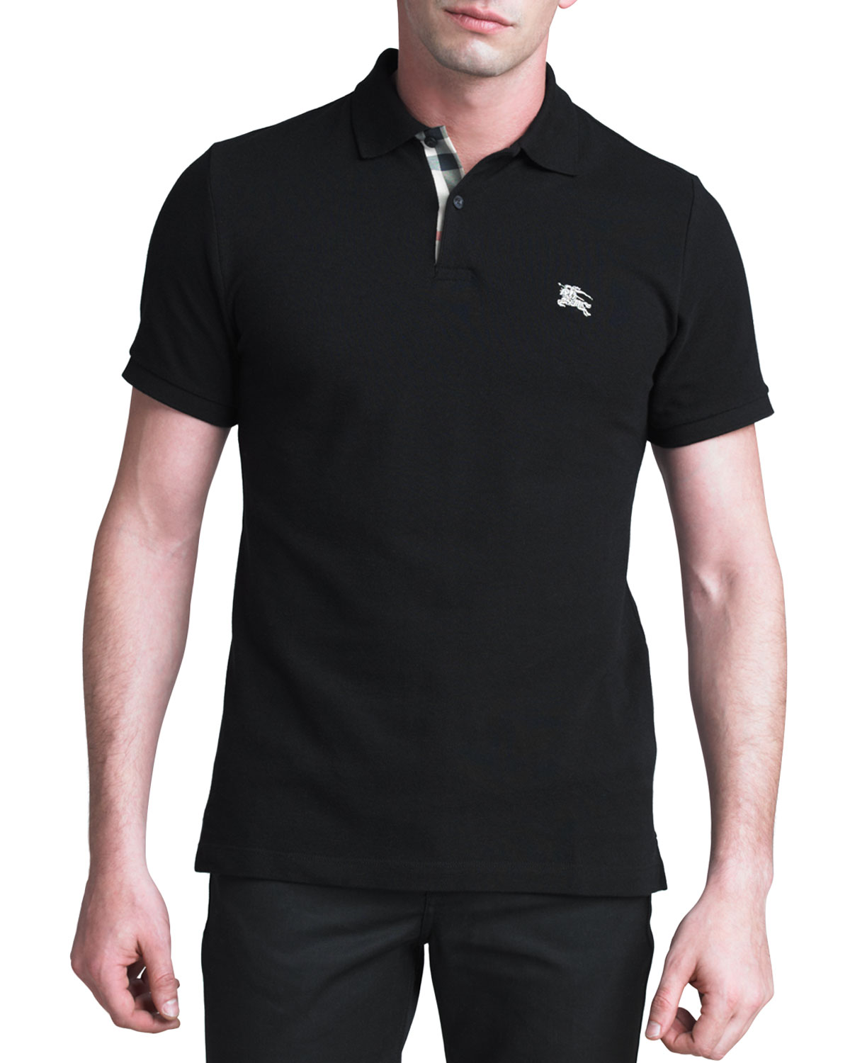 BLACK MODERN FIT S/S POLO