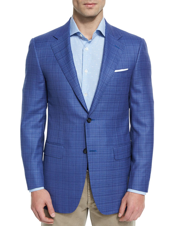 Sienna Contemporary-Fit Textured Sport Coat, Light Blue