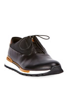 Berluti Men's Fast Track Torino Glazed Calf Leather