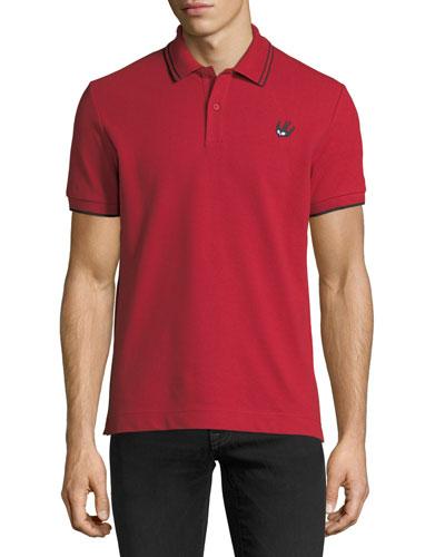 Logo Polo Shirt w/Contrast Tipping