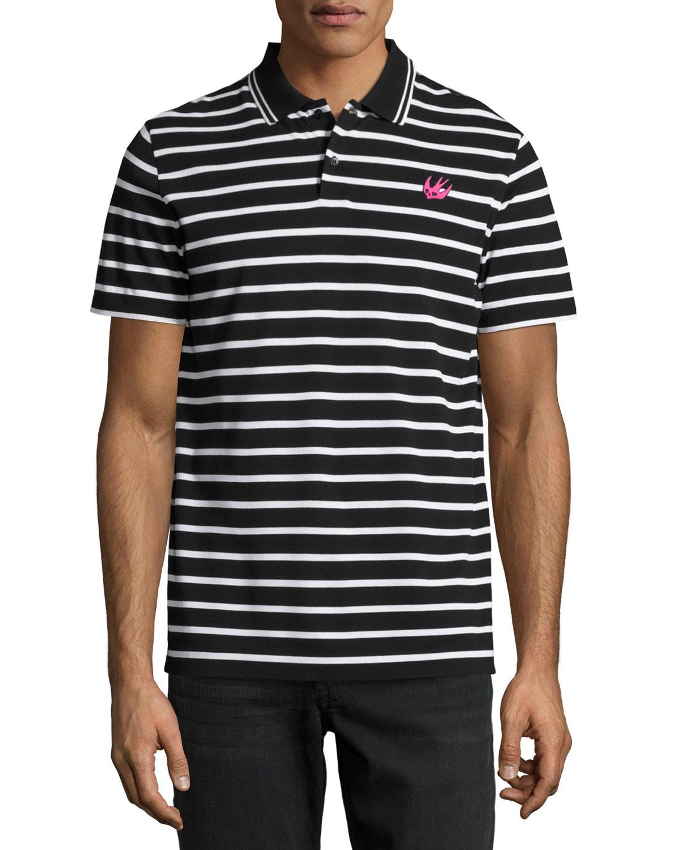 Clean Polo 01, Striped Black
