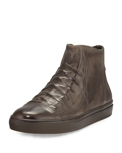 Reed Ghosted Leather High-Top Sneakers