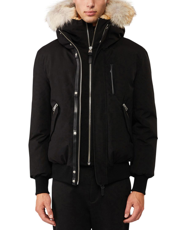 Dixon-C Lux Down Bomber Jacket w/Fur-Lined Hood