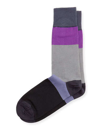 Capri Colorblock Stripe Socks