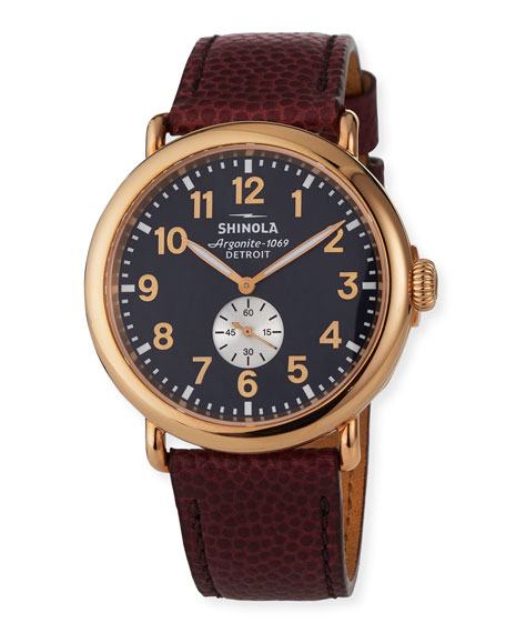 Shinola Men's 47mm Runwell Leather Watch