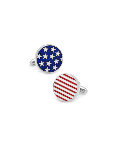 Stars & Stripes Cuff Links