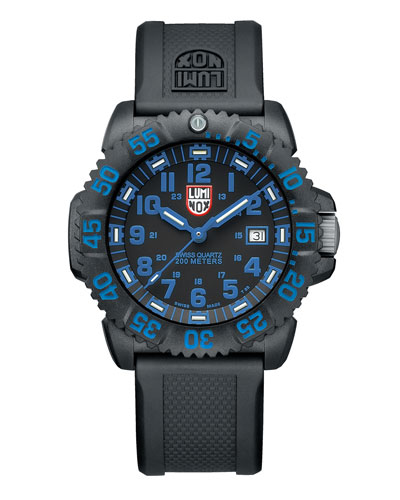 44mm Navy SEAL 3050 Series Colormark Watch, Blue
