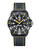 Luminox 44mm Sea Series Coronado 3025 Watch, Yellow