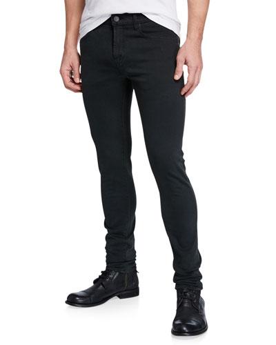 Men's Mick Black-Rinse Skinny Jeans