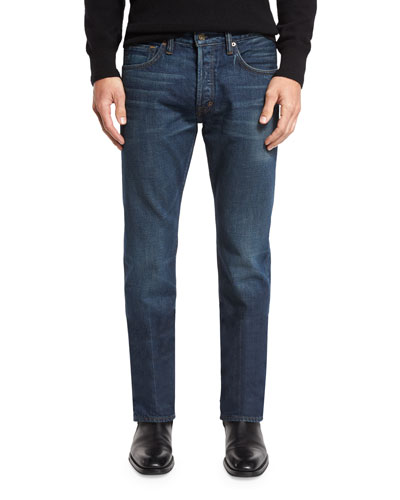 2bb7a8a46abc4 Quick Look. TOM FORD · Regular-Fit Selvedge Harrison Wash Denim Jeans.  Available in Blue