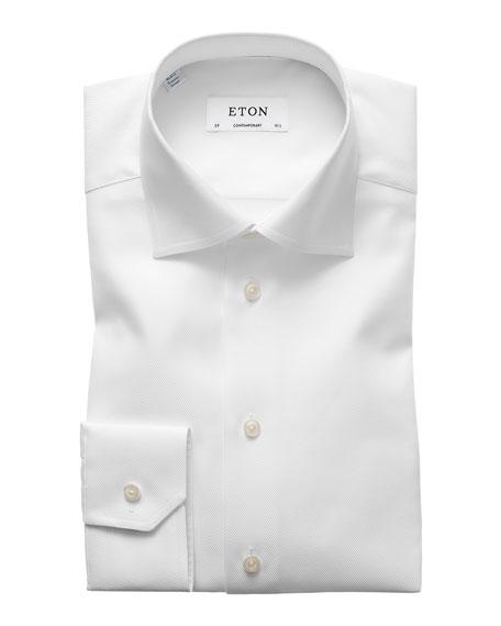 Eton Contemporary-Fit Cavalry Twill Dress Shirt