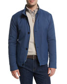 Mayfair Nylon Bomber Jacket, Blue