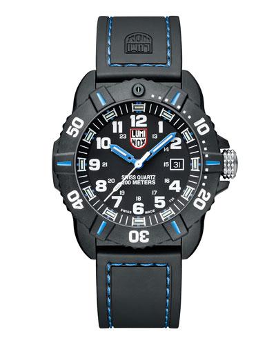 LUMINOX 44Mm Sea Series Coronado 3023 Watch, Blue in Black/ Blue