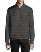 Zip-Front Jacket w/ Down Front, Charcoal
