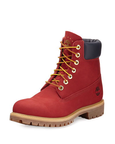 6 Premium Waterproof Hiking Boot, Red