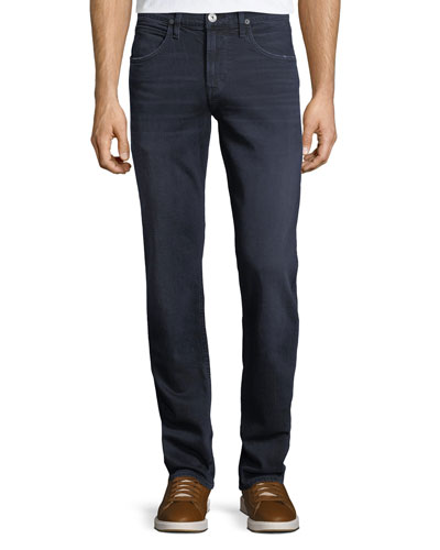 Byron Straight-Leg Denim Jeans, Light Blue