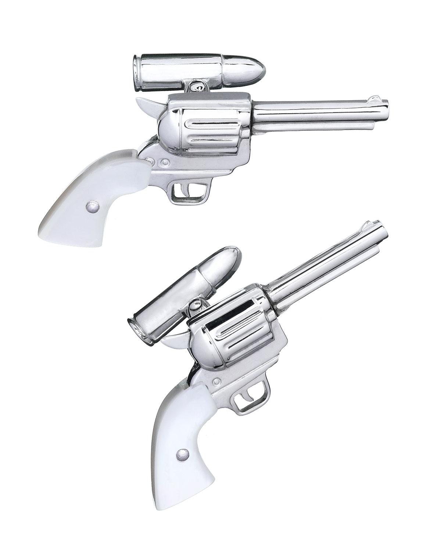 Silver Gun Cuff Links