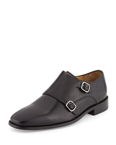 Giraldo Monk-Strap Loafer, Black