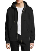 Claredon Jersey Hoodie w/Check Lining, Black