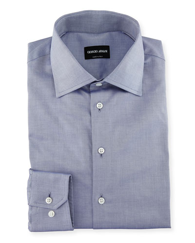 Men's Light Blue Basic Dress Shirt