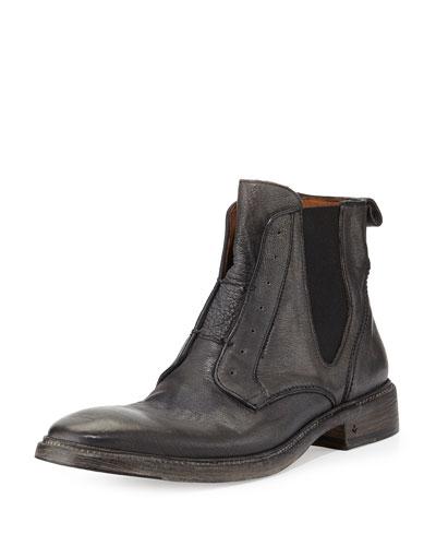 Norvegian Laceless Leather Chelsea Boot, Gray