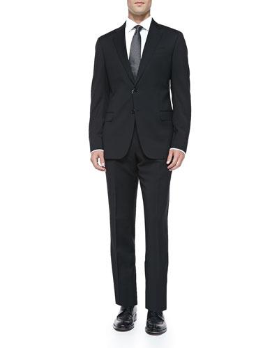 Basic Wool Suit, Black