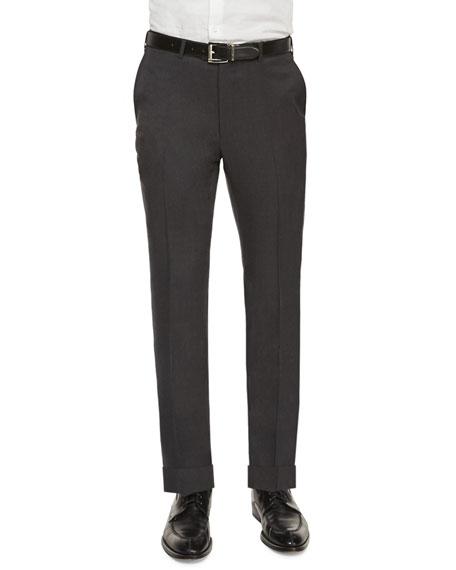 Ermenegildo Zegna Flat-Front Regular-Fit Wool Trousers