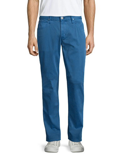 Blake Seascape Slim-Straight Twill Pants, Blue