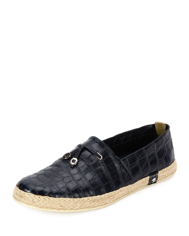 Crocodile Leather Espadrille Shoe