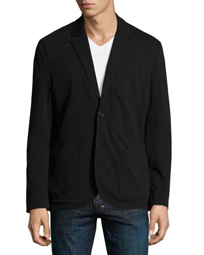 Slub Jersey Two-Button Blazer