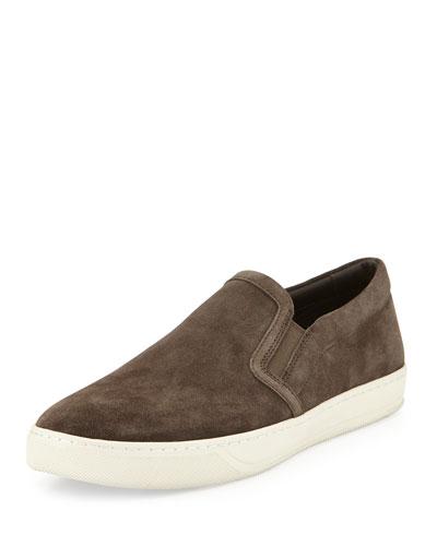 Barron Suede Sport Slip-On Sneaker, Gray