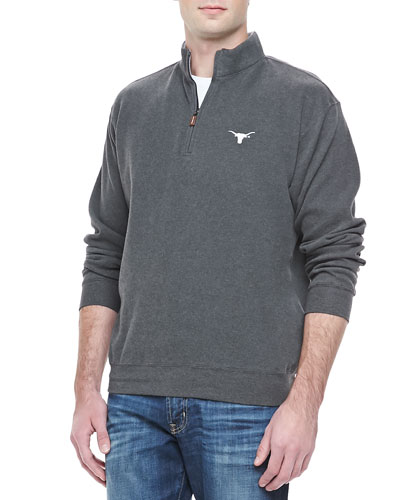 Gameday Texas Longhorns 1/4-Zip Fleece Pullover, Charcoal