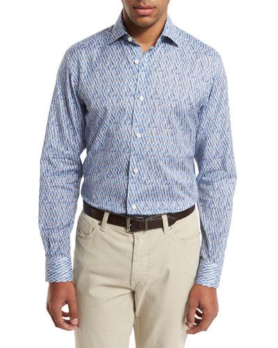 Quindici Sport Shirt, Bright Blue